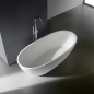 Mobile Preview: ovale freistehende Badewanne aus Mineralguss / Solid Stone PG11778 ( 170x78cm )