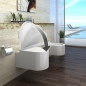 Preview: lux-aqua Design Wand -Tiefspül- WC mit Softclose WC Sitz  CT2044A