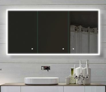 Bevorzugt www.lux-aqua.de - Alu Badschrank badezimmer spiegelschrank bad LED CG05