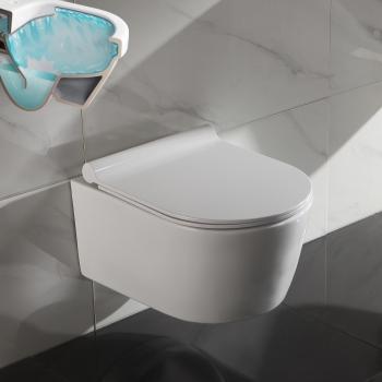 Fabulous www.lux-aqua.de - 50cm Tiefe Spülrandloses Wand Hänge WC JK09
