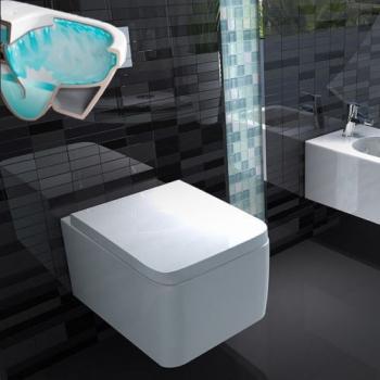 Berühmt www.lux-aqua.de - eckig Wand-Tiefspül-WC ohne Spülrand mit LY27