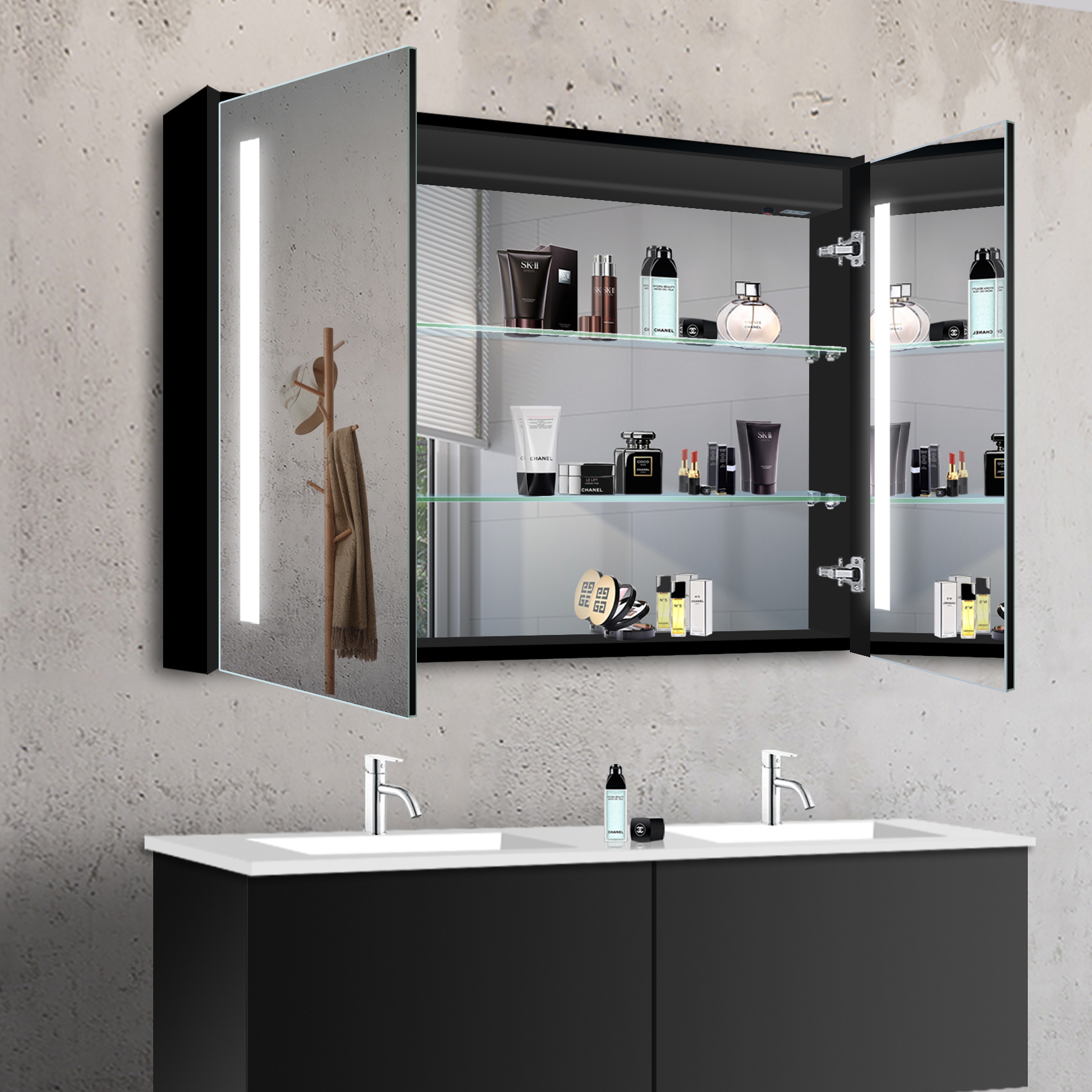 www.lux aqua.de   lux aqua Design Schwarz Aluminium LED Kalt ...