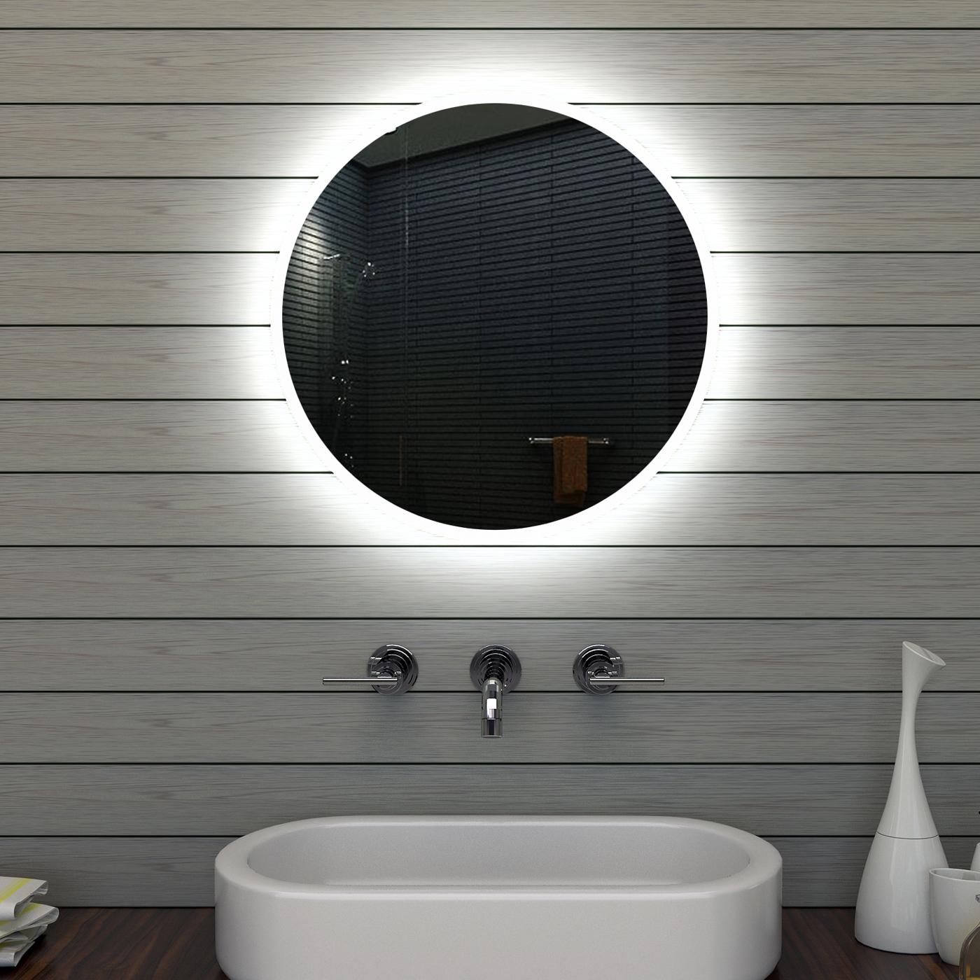 Wwwlux Aquade Rund Led Beleuchtung Badezimmerspiegel