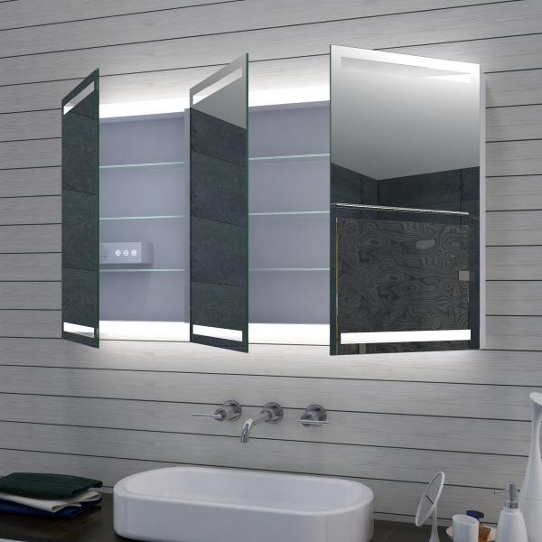 Www Lux Aqua De Aluminium Led Beleuchtung Badezimmer Spiegelschrank Dimmbar Mla1270 D1