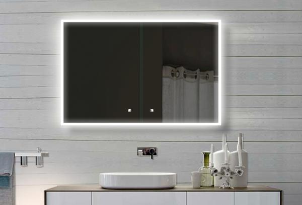 Www Lux Aqua De Weiss Aluminium Led Beleuchtung Badezimmer Spiegelschrank Sac100h70